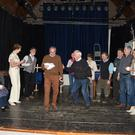 Denis O'Mahony directing the Lartigue cast in their rehearsals for The County Boy