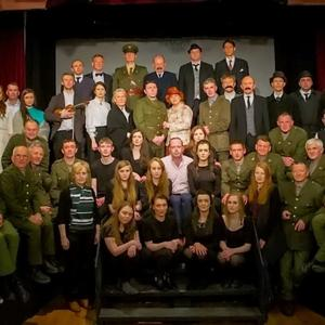 The cast and crew of Aidan O'Connor's 1916 drama, Patrick, who will perform at the INEC on Thursday next, May 26