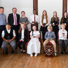 Yamaha School of Music students with their awards at Collis Sandes House this week, including Student of the Year and Ballyduff native David Kearney