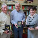 Cyril Kelly, John Fitzgearld and Brenda Woulfe at the John Fitzgerald book launch at Brenda Woulfe's Bookshop