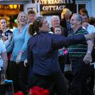 Down to Kate Kearney's to complete the set after Walkers trekked up Strickeen to perform a set dance with members of Kilgobnet Biddies, in aid of Killarney Water Rescue at the weekend as part of Killarney Walking Festival's Charity night
