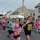 And they're off! Ballyheigue becomes a sea of colour as the Half on the Head gets underway on the streets of the village on Saturday morning