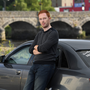 Kian Griffin from Killorglin is organising a protest rally in Dublin to highlight spiralling motor insurance costs. Kian is pictured beside his A4 Audi atThe Fishery Bar car park. Photo by Domnick Walsh