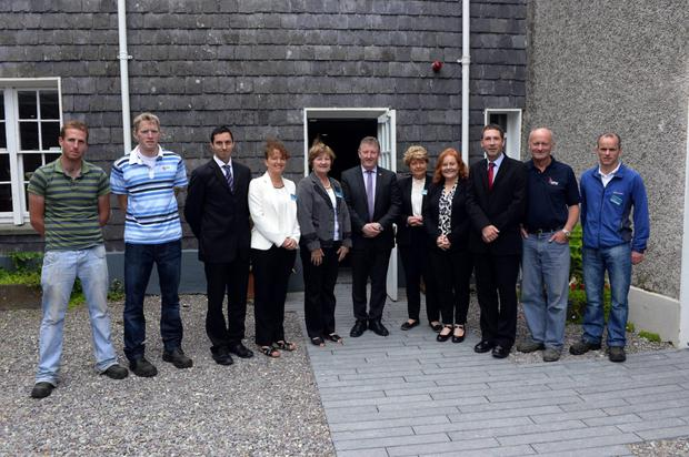 Minister Sean Canney, TD, Minister of State with special responsibility for the Office of Public Works and Flood Relief pictured after he launched four interconnected visitor initiatives for Derrynane National Historic Park with staff members
