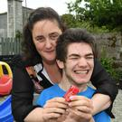 Nicola Lawless with her son Ben, at home in Castleisland last week. Photo by Domnick Walsh