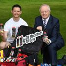 Tralee's Tom Foley who will run 20 marathons in 10 days, pictured with John O'Sullivan, General Manager of Lee Strand