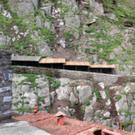 The extended canopy built by the OPW at Skellig Michael