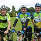 Liam Kerins, Castleisland; Anthony English, Glanmire and John English, Beaufort who completed the Ring of the Reeks Cycle