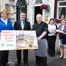 John Drummey, President of Tralee Chamber Alliance, launches the latest Dining in Tralee guidebook with the help of Nuala Dawson, Dawson's Restaurant, Michael McDonnell, Denny Lane Restaurant & Wine Bar, Christina Dureke and Triona Houlihan, Tralee Chamber Alliance
