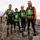 Noel O'Leary, Ailise Deane, Caroline Bullard and David Spence, Team 7 DAR Dingle, on the Twelve Bens, Connemara, competing in the ITERA World Expedition Race 2016, a non stop 600km journey, starting at Westport and travelling the Wild Atlantic Way, through Mayo, Galway and Clare before reaching Kerry. The adventurers from all over the world cycled, trekked and kayaked in teams of four.