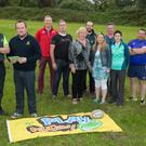 Members of Listowel Rugby Club and Development Committee at their new field on Monday evening were: (front l-r): Gus Sweeney (Secretary) and Aidan Mulvihill (Chairman), Kay Sayers, Ornagh Ferris, Mary Beades, Con Lynch, Kieran Reilly, Joe Murphy, Stephen Reidy and James Maguire