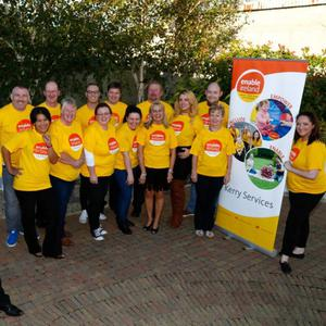 Enable Ireland staff joined Lip Sing participants at Enable Ireland Kerry Services in Oakview Village to launch the fundraising event which takes place at The Earl of Desmond on October 1