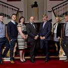 Kerry graduates pictured at their ESB induction this week in the National Concert Hall: (L to R) Peter Murphy (Rathmore), Sinclair Dowey (Tralee), Managing Director of ESB Networks (and Tralee native) Marguerite Sayers; Minister Denis Naughten TD; ESB CEO Pat O'Doherty; Orla Griffin (Caherslee) and Barry Bambury (Dingle)
