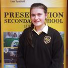 Presentation Listowel student Ciara Fitzell who achieved 11 A grades