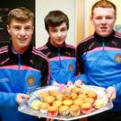 CBS The Green students in Tralee kept the coffee morning buzz going for the Hospice into Friday as they held a special cake sale for the vital foundation, enjoyed by students, staff and parents. Pictured right are Michael Lacey, Jack O'Brien and Padraic O'Callaghan with a plate of buns that sold like hot cakes