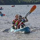 Kayaking on Muckross Lake in Quest Killarney, the multi-activity one-day Adventure Race event on Saturday. 2,500 adventurers competed in the race, making it the largest adventure race in the world. Photos: Valerie O'Sullivan