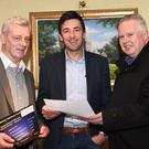 Sean Mac an tSithigh guest speaker at the Killarney National Park Autumn series of Talks 2016 (centre) with Padruig O'Sullivan and Pat Dawson at the Plaza, Killarney on Thursday.