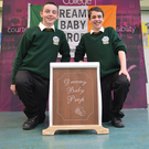 Jack Nagle and Eoin McKenna who brought their project to Rome
