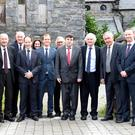 Judge James O'Connor (fourth from right) with Brendan Ahern who was introduced to the Court sitting at Killorglin Court on Thursday with (from left) Solicitors John O'Dwyer, Liam Crowley, Padraig O'Connell, Colm Kelly, Scarlett O'Sullivan, Brendan Ahern, David Ramsey, Ed O'Sullivan, Paul O'Donoghue and Emmett McCann. Photo by Michelle Cooper Galvin