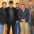Cast and crew members of 'Con' pictured in Siamsa Tíre in Tralee on Wednesday night: from left, Bertie Brosnan, Henry Malachy, Brian O'Connor, Cillian Garven, Owen Barton, MJ Sullivan and Dara Mullins