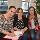 Jennifer Kissane, Marie Enright and Melissa Dennehy at their charity coffee morning