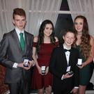 Cromane u-14 mixed runners up 2016 (from left) Cian Falvey, Zara Foley, Daragh Lynch, Ava Griffin and Kaiya Flaherty.