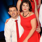 Aidan O'Mahony and Susan Holden who competed in Strictly for Down Syndrome at the INEC last week