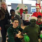 Some of the cast of CBS The Green's Christmas play 'How The Grinch Stole Christmas. The production is running all this week at the school