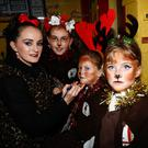 Na Réinfhi put make-up on for the Nativity Play at Gaelscoil Mhic Easmainn,Tralee