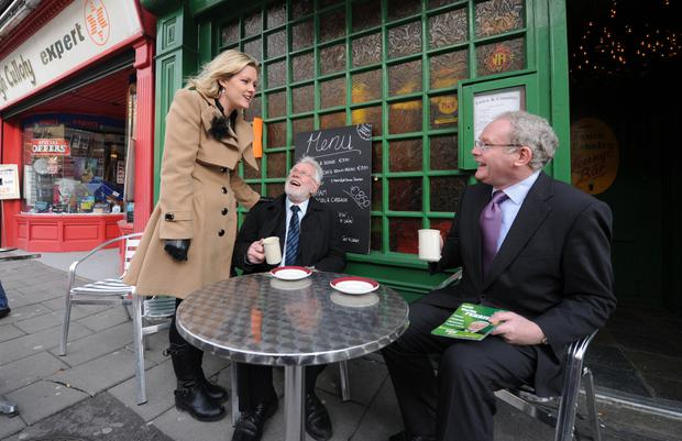 Martin McGuinness with Martin and Toireasa Ferris on the campaign trail in Tralee during the 2011 General Election. Photo: Eye Focus