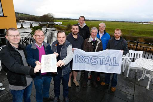 Getting ready to travel to rural Tanzania for the opening of the life-saving Kostal Water Project were, front from left, Don, Willie and Billy Keane and back, from left, Mike Herlihy, Seamus Heffernan, John Keane, Maurice Kelly and Des Martin. Billy and Don's brother Patrick is also travelling out with the group