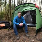 CEO of Crua Outdoors Derek O'Sullivan with the Crua Tri, part of a new generation of insulated tent the firm has developed for dedicated campers. Photo by Domnick Walsh
