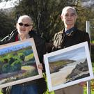 Bob Scott (left) and Adrian Everson with some of the work featuring in their joint, debut exhibition
