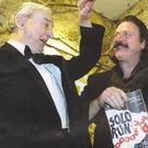 John B Keane, Patrick Bergin and Tony Guerin at the opening night of Solo Run in March, 2002