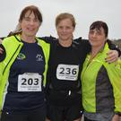 Gretta Guirke, Breda Wyles and Catherine Griffin pictured looking ready for road on Marathon Day on Saturday in Tralee