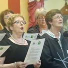 Members of the Athea Church Choir, singing at the Athea Concert for the Invalid Fund for Lourdes