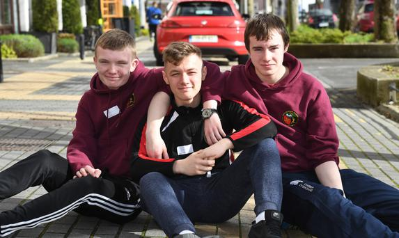 Brian Devane, Jeaic Maher and George Loughlin from Tralee . All photos by Domnick Walsh