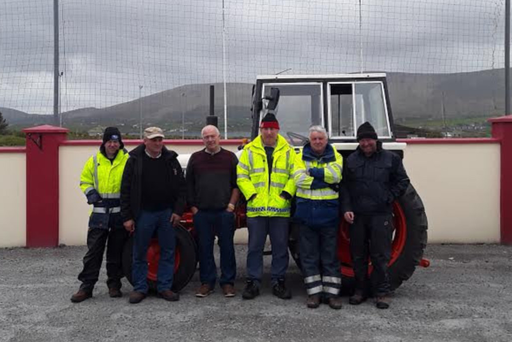 Participants in the Leap and District vintage tractor journey pictured in Chapeltown: L-R: Maurice Collins (Rosscarbery), Joe Newman (Ballydehob), Dermot Walsh (Valentia), Denis Murphy (Valentia), Joe Ronan (Leap) and Gerard Grace (Glandore)