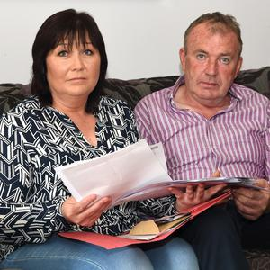 Lyme patient Peter O'Connor, with his wife Ann Marie at home in Milltown. Photo Michelle Cooper Galvin