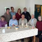 Nonagenarians and friends at Derarca Goldie's Danu House premises in Chapeltown. Front (from left): Kit Murphy,Nancy Murphy (Sister Brendan),Alec Gerrard, Maurice O'Sullivan, Diarmuid Ring, Teresa Curran, Cautie Smith. Back: Margaret Curran, KarenHayes, Derarca Goldie, Liam Lynch