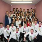 Dancers, Judges and MC on the night of Mhuire Gan Smál Presentation Primary and Castleisland Desmonds Ladies GAA Club's Strictly Come Dancing 2017 at Castleisland Community Centre on Saturday evening