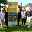 Listowel Presentation Secondary students and principal Eileen Kennelly (on right) with members of the committee charged with bringing together a publication celebrating the school's rich history, Joanna Keane O'Flynn, Anne Dillon, Mary Cogan and Cathríona Healy