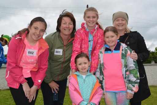 Lucy Flaherty, Diane Flaherty, Rosie Falvey, Marina McGearailt, Rachel Falvey and Kate Falvey pictured at the Donal Walsh walk on Sunday morning
