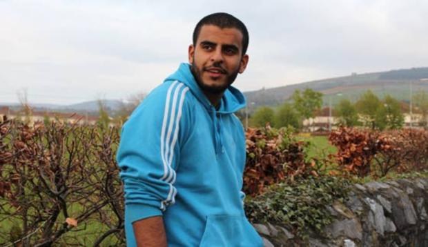 Above is Irishman Ibrahim Halawa, who has been in an Egyptian jail for four years without trial