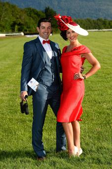 Aidan O'Mahony and fiancée Denise Healy launching the Killarney Races and setting the bar extremely high for fashion in the process