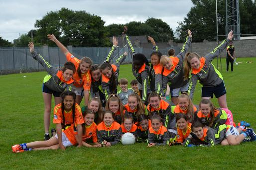 All for one and one for all at the Strand Road Cúl Camp with the young Kerins O'Rahilly players last week. Photo by Domnick Walsh