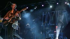 Hozier recently performing at the INEC