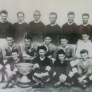 The four-in-a-row Kerry team of 1930 which included Jack McCarthy in the middle row on the left in the white shirt. The picture was taken after the second of Kerry's four consecutive All-Ireland wins following a facile victory over Monaghan
