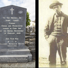 The roadside monument in Ardmona and a photo of the ill-fated John Twiss c1894. Image courtesy of Paul Dillon