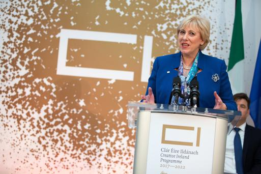 Minister Heather Humphreys TD, at the announcement of Creative Ireland, the major culture and creativity cross-Governmental initiative